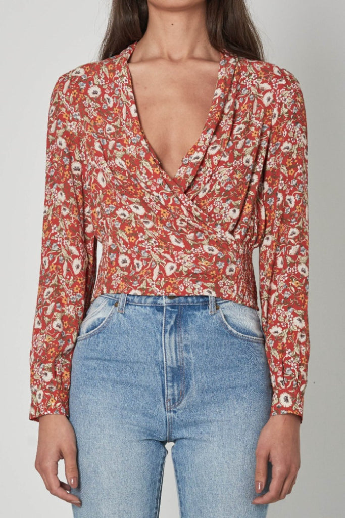 Rollas Bella Meadow Blouse Rosehip Front