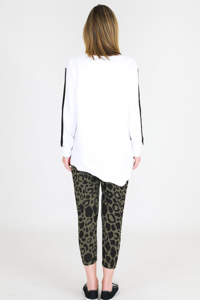 SAT AND SUN Leopard Circa Sweater White Back