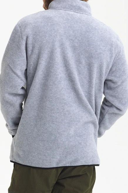 BURTON Hearth Fleece Pullover Heather Grey back