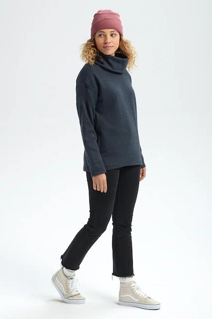 BURTON Ellmore Pullover True Black Heather Full