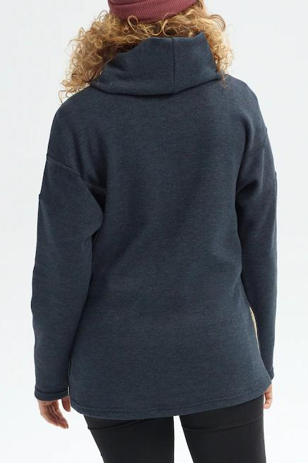 BURTON Ellmore Pullover True Black Heather Back