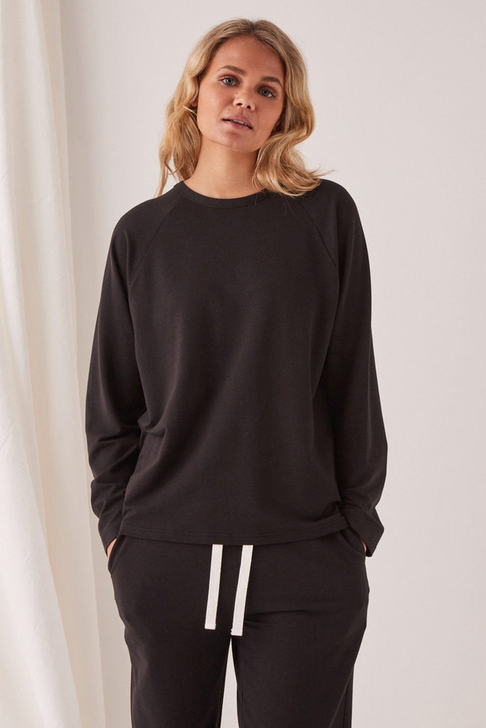 ASSEMBLY Kin Fleece Top Black Front