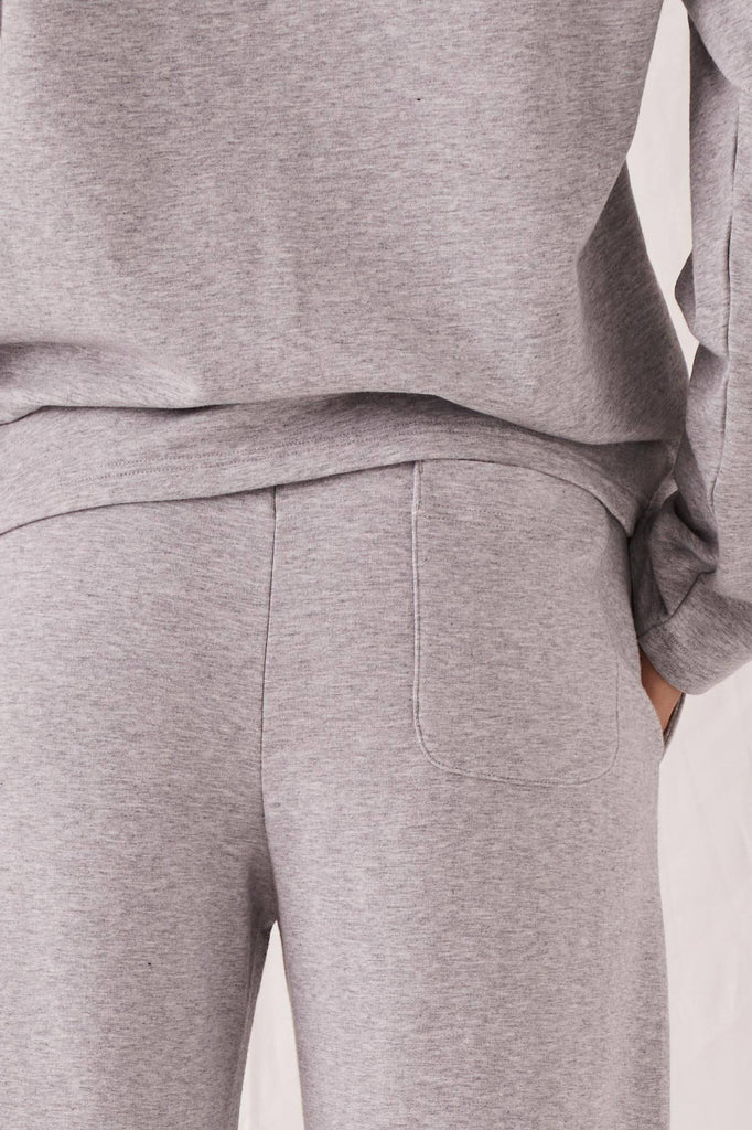 ASSEMBLY Kin Fleece Trackpant Grey Marle Back Detail