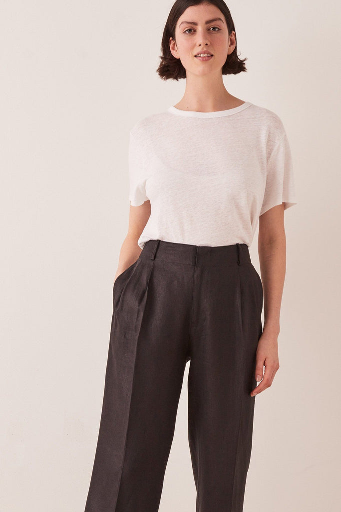 ASSEMBLY Tailored Linen Pant Black