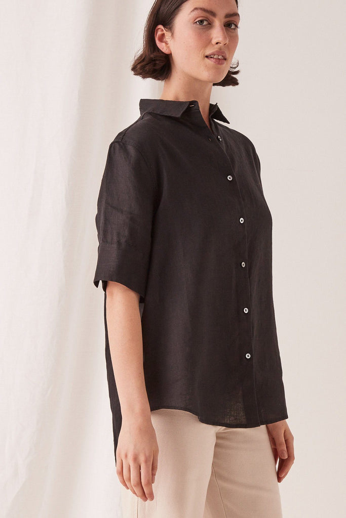 ASSEMBLY Short Sleeve Shirt Black Front