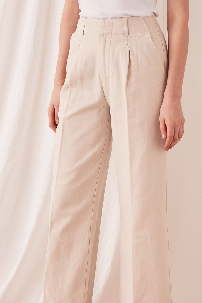 ASSEMBLY Wide Leg Pant Ivory Front