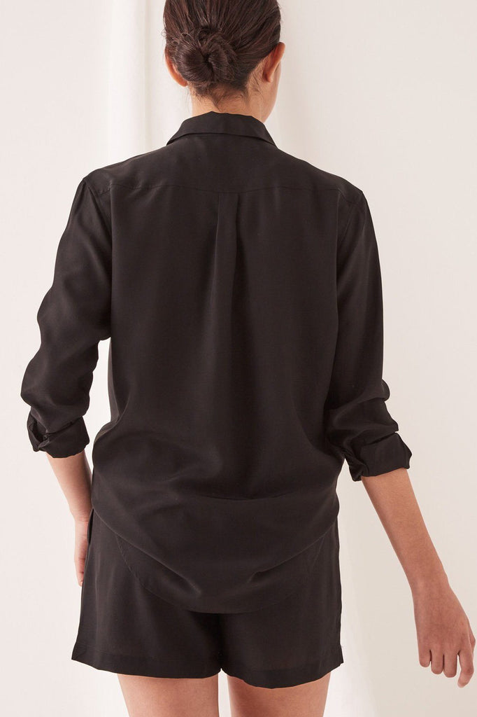 ASSEMBLY Malene Silk Shirt Black Back