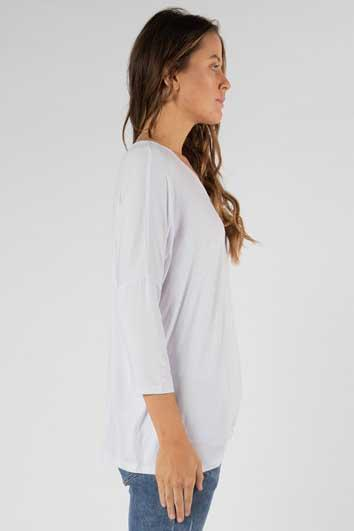 BETTY BASICS Atlanta 3 4 Sleeve Top White Side