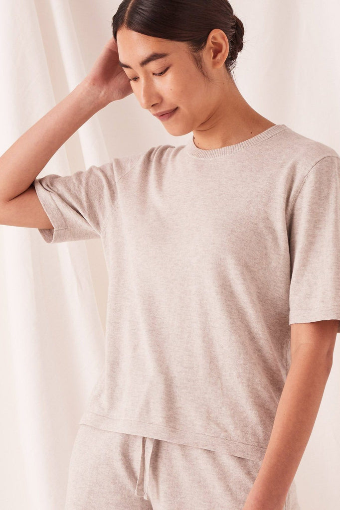 ASSEMBLY Cotton Cashmere Lounge Tee Grey Front