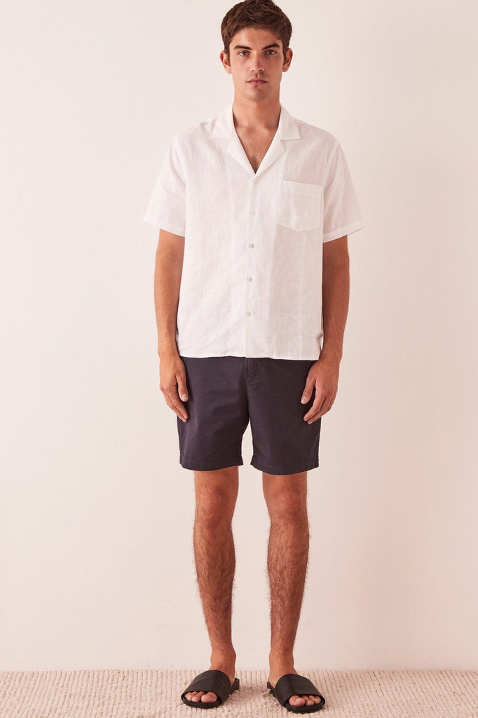 ASSEMBLY The Chino Short True Navy Front Full
