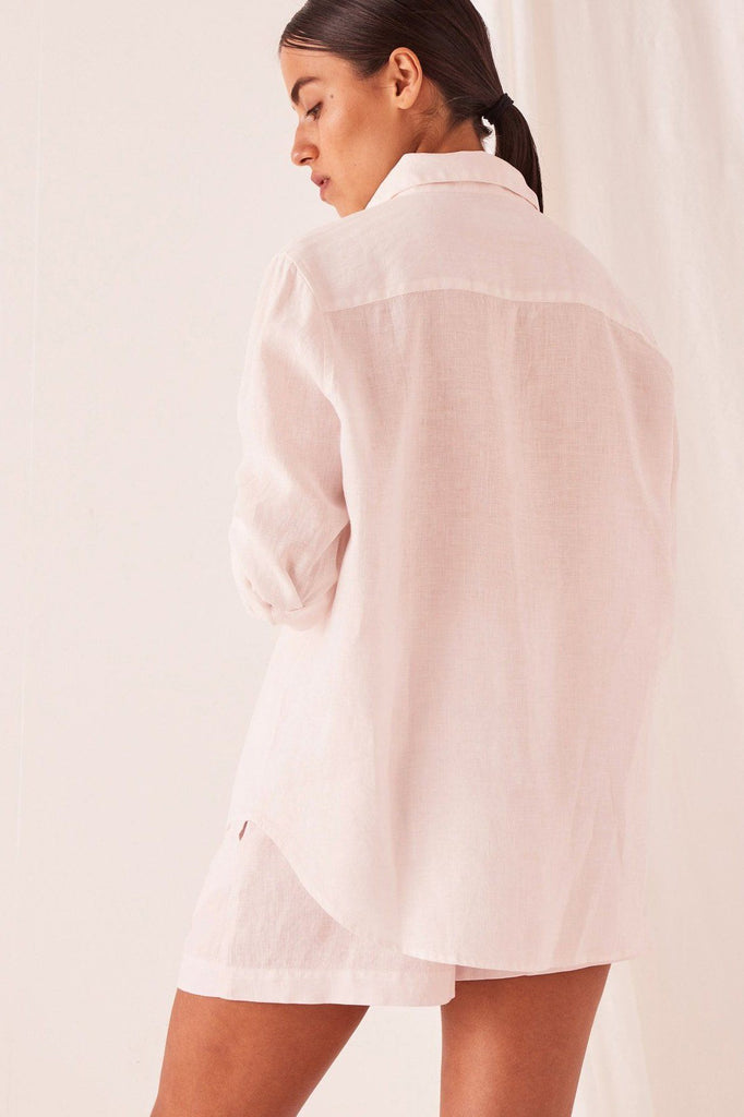 ASSEMBLY Xander Long Sleeve Shirt Pink Dew Back
