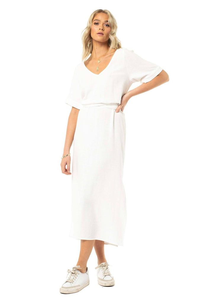 RUSTY Alistair Dress White Front