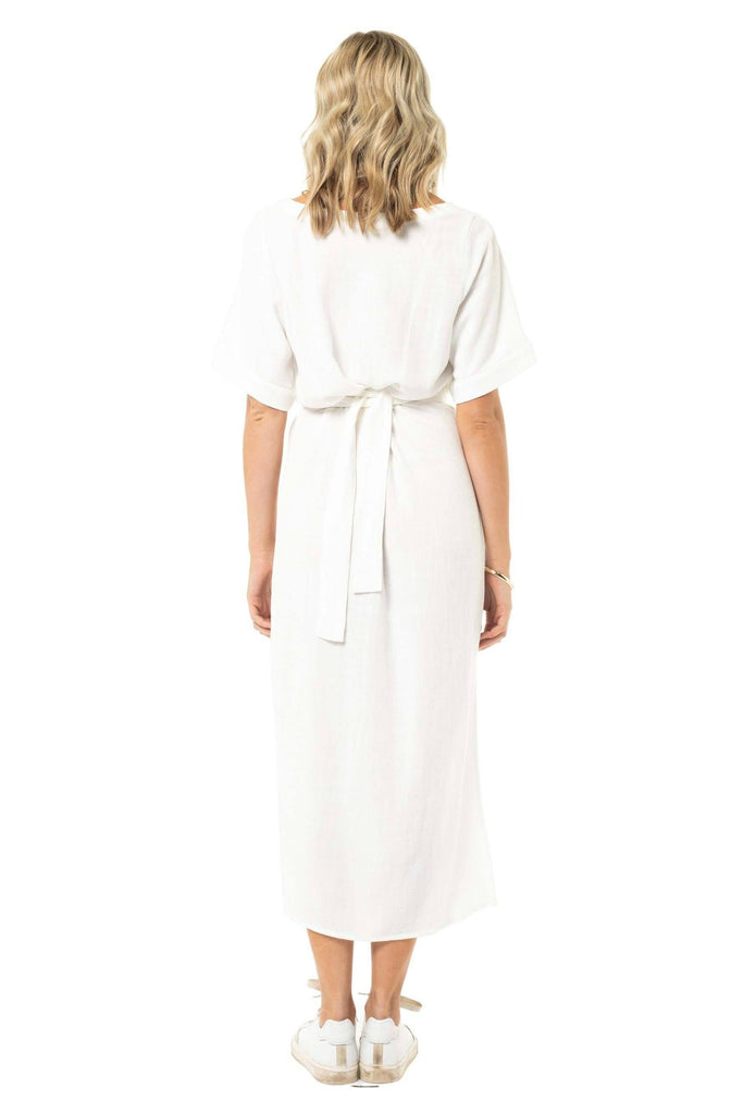 RUSTY Alistair Dress White Back