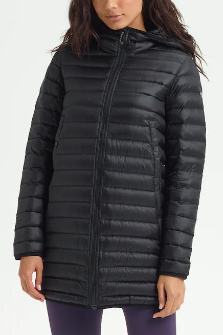 BURTON Evergreen Long Down Jacket True Black Front