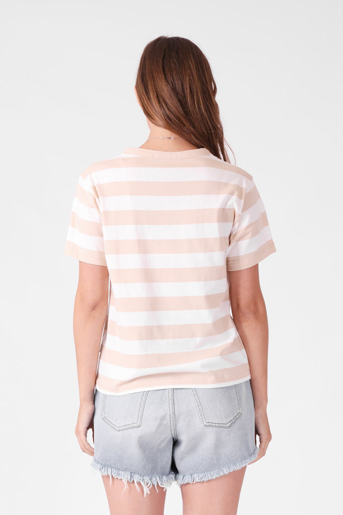 RPM Sophie Tee Beige White Back