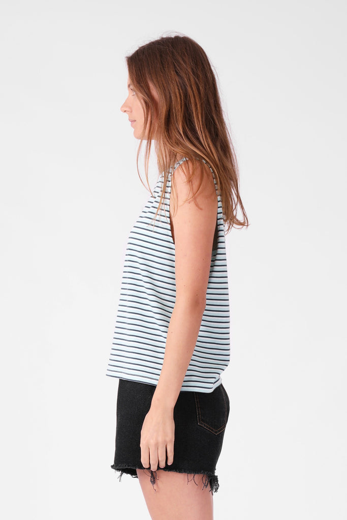 RPM Stripe Tank Cobalt Stripe Side