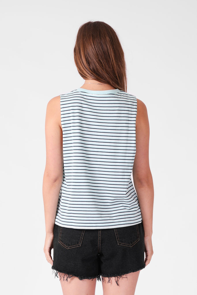 RPM Stripe Tank Cobalt Stripe Back