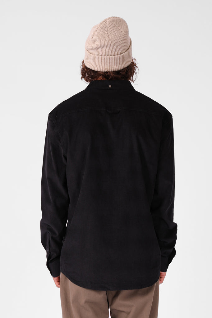 RPM Cord Ls Shirt Black Back