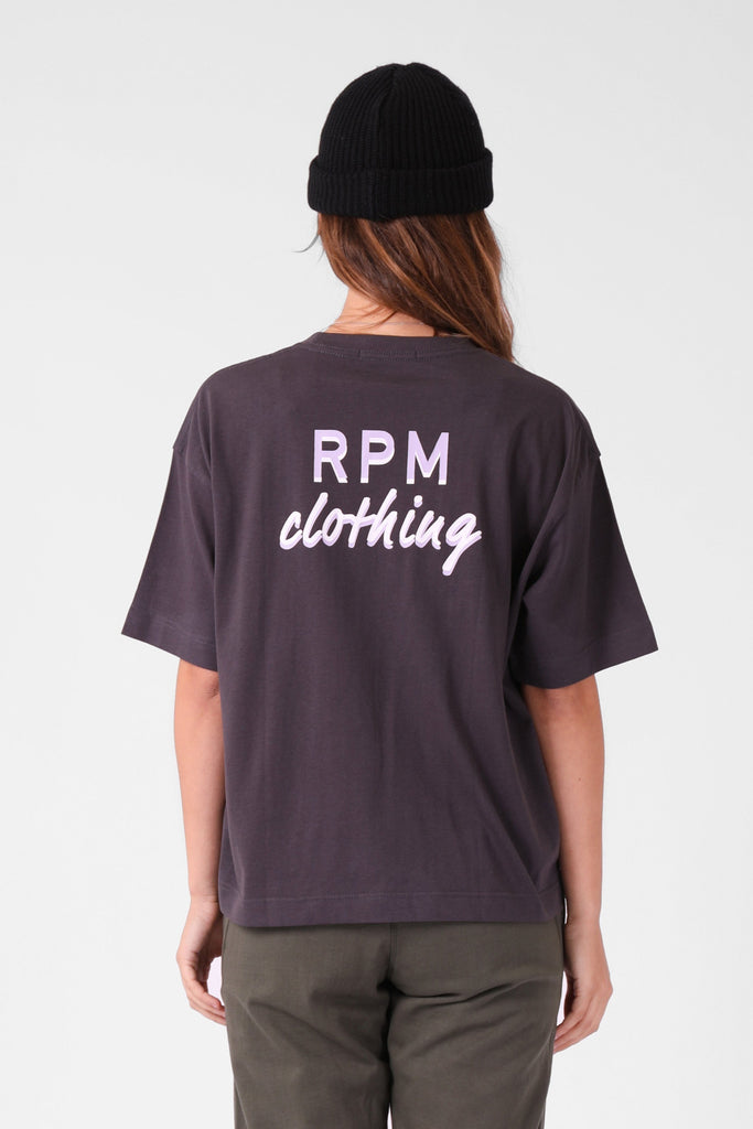 RPM Baggy Tee Charcoal Back