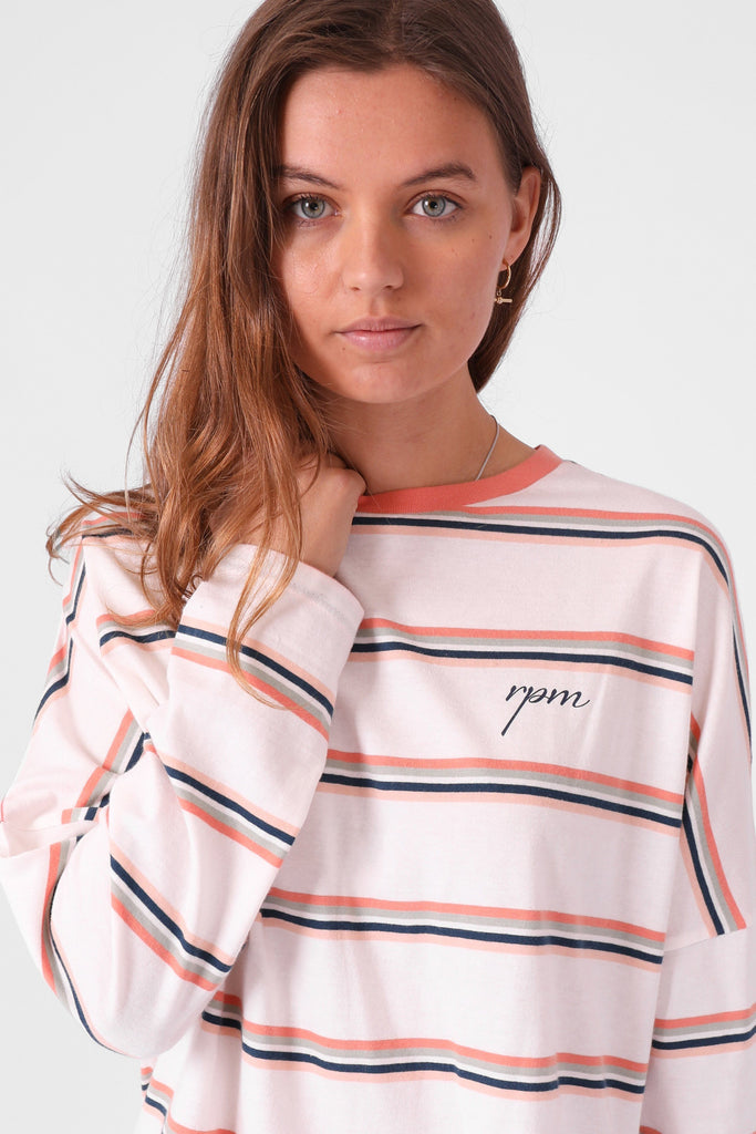 RPM Madi Ls Multi Stripe Close Up