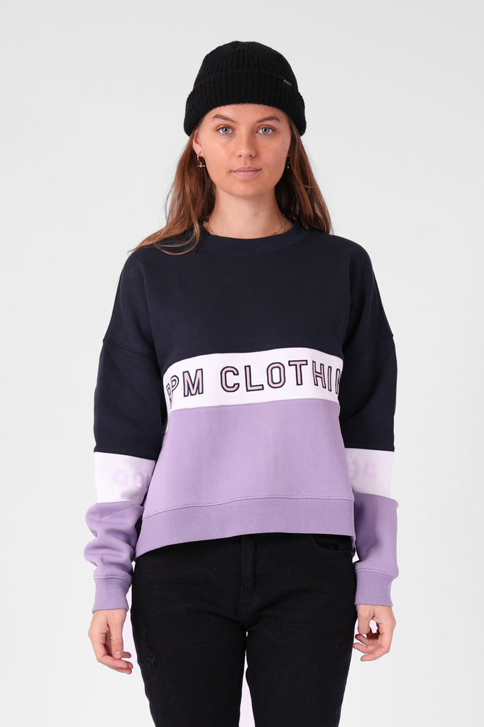 RPM Panel Crew Lavender Navy Front