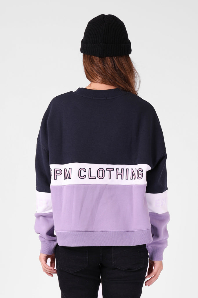 RPM Panel Crew Lavender Navy Back