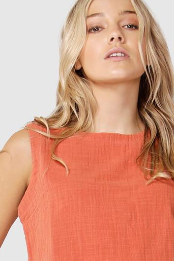 SASS Lost Dreams Crop Top Sunrise Front Detail