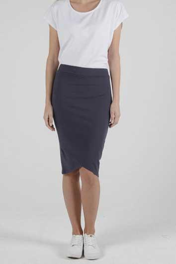 BETTY BASICS Siri Skirt Blue Stone Front