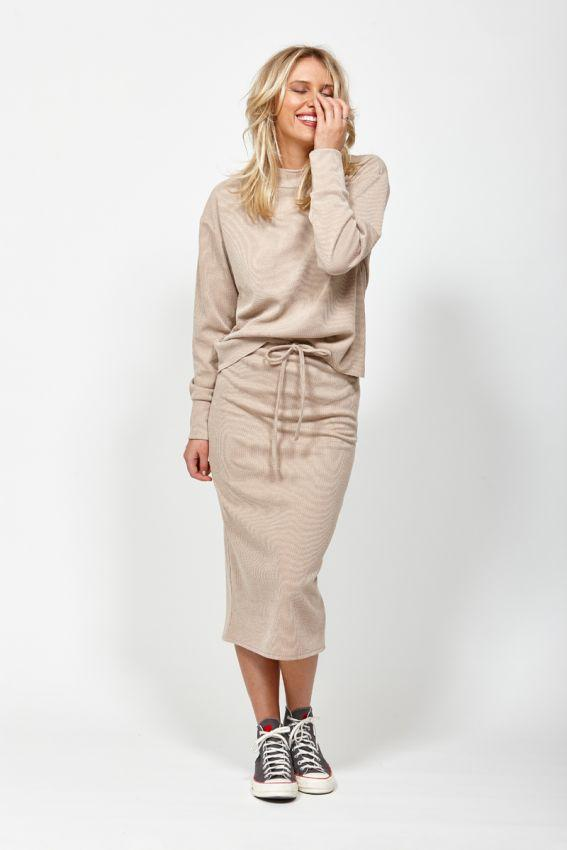 KETZ KE Nudge Skirt Camel Front