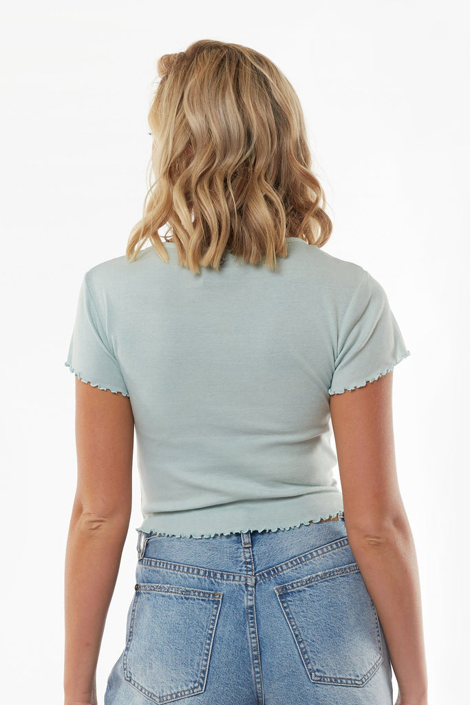 ALL ABOUT EVE Take You Away Tee Blue back