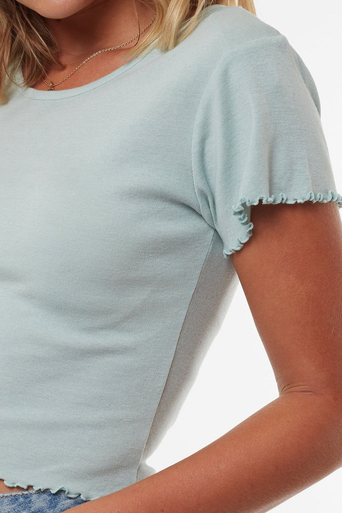 ALL ABOUT EVE Take You Away Tee Blue Detail