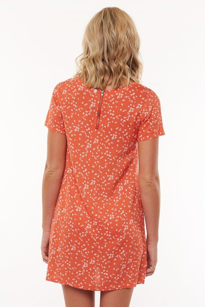 ALL ABOUT EVE Spring Shift Dress Print Back