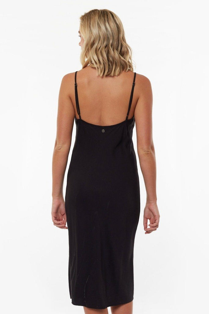 ALL ABOUT EVE Billie Midi Slip Dress Black Back