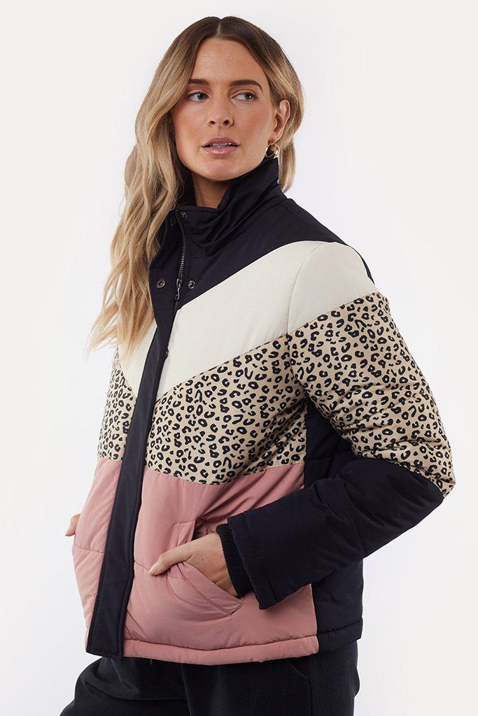 ALL ABOUT EVE Distinct Panel Puffer Multi Front