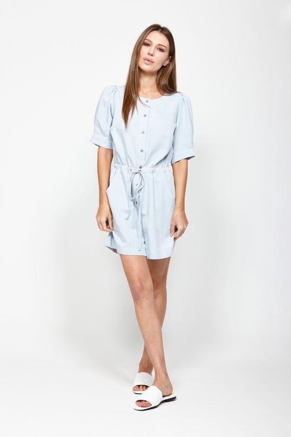 LEO BE Tidal Playsuit Light Blue Front
