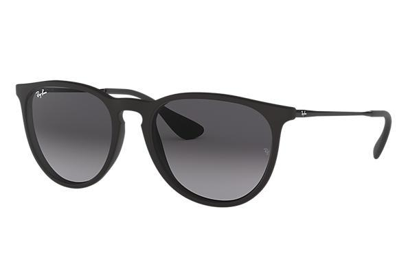 Rayban Erika Black Light Grey Gradient Dark Grey Front Angle