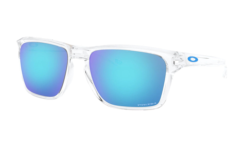Oakley Sylas Polished Clear Sunglasses Prizm Sapphire Lens