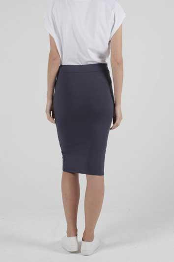 BETTY BASICS Siri Skirt Blue Stone Back