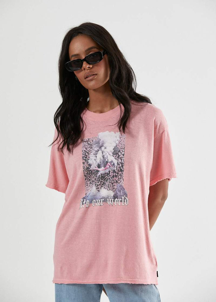 AFENDS Our World Hemp Os Tee Flapinko Front