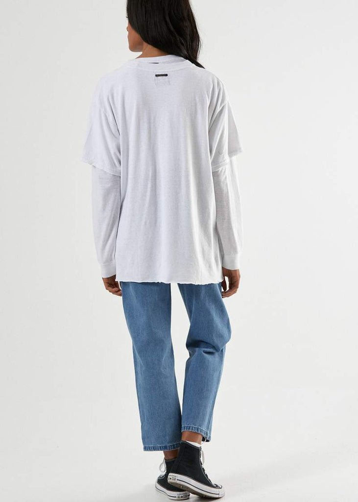 AFENDS Think Global Hemp Os Tee White Back