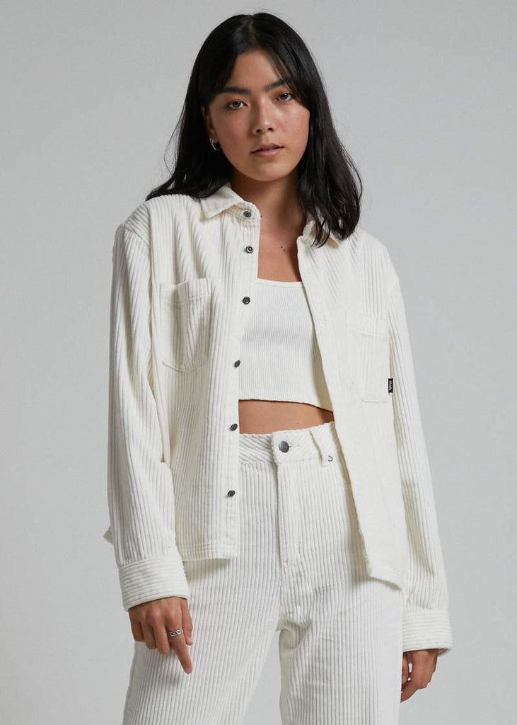 AFENDS Izabella Courduroy Jacket Cream Front