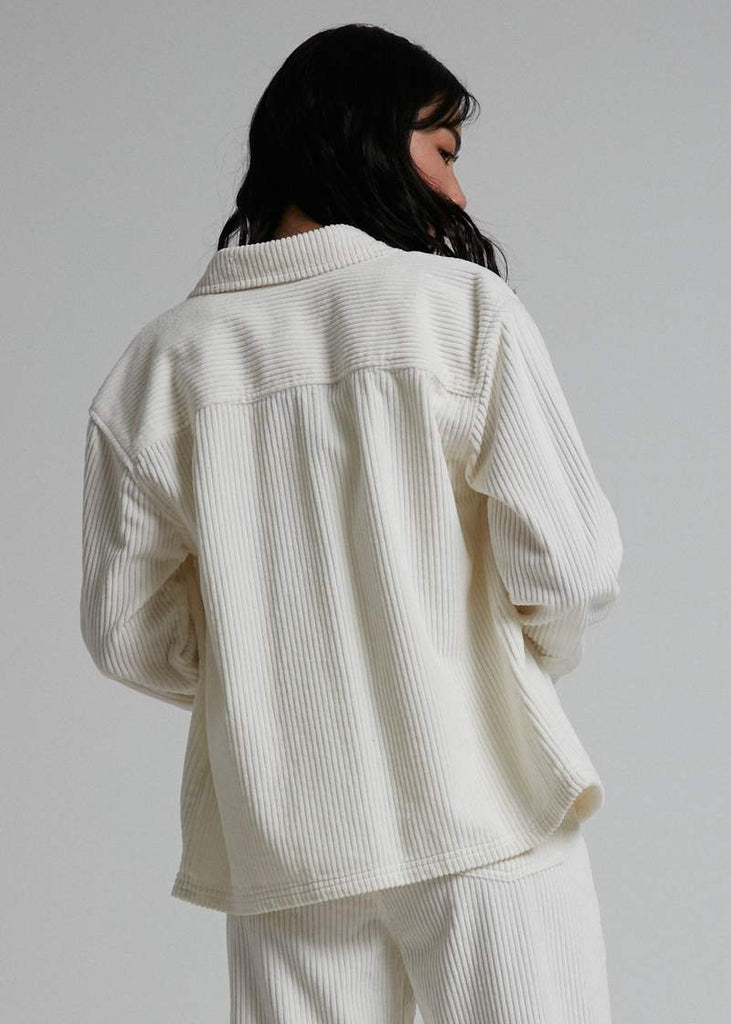 AFENDS Izabella Courduroy Jacket Cream Back
