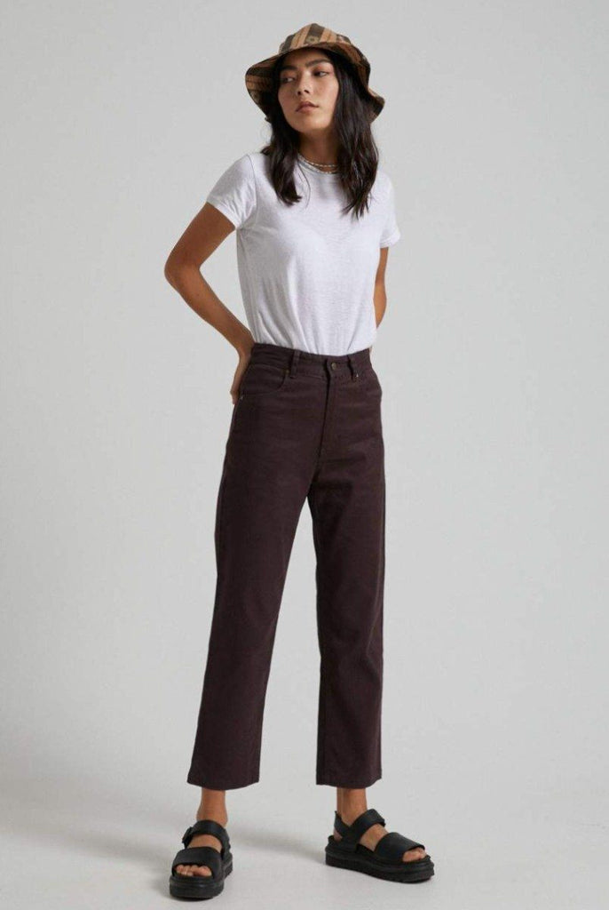 AFENDS Shelby Hemp High Wasit Wide Leg Pant Mulberry Front