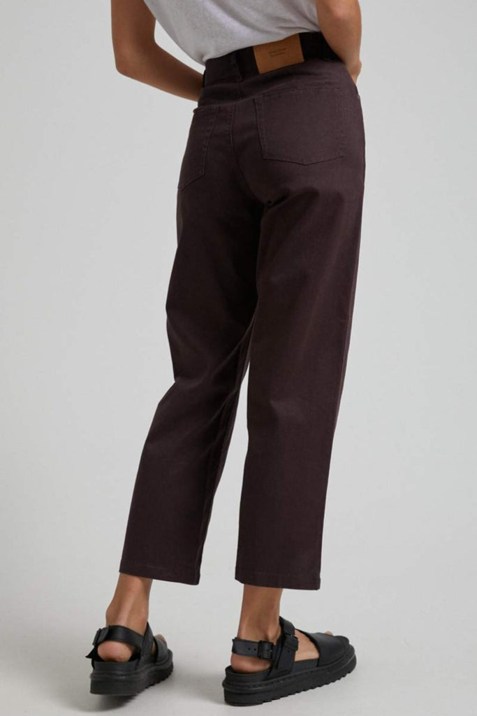 AFENDS Shelby Hemp High Wasit Wide Leg Pant Mulberry Back