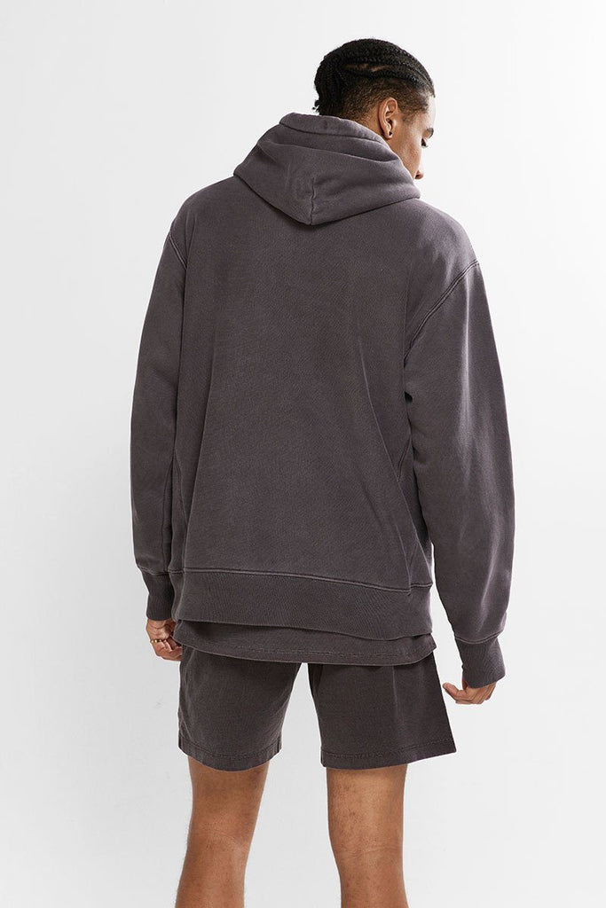 CHAMPION Reverse Weave Garment Dye Hood Lady Brunette Back