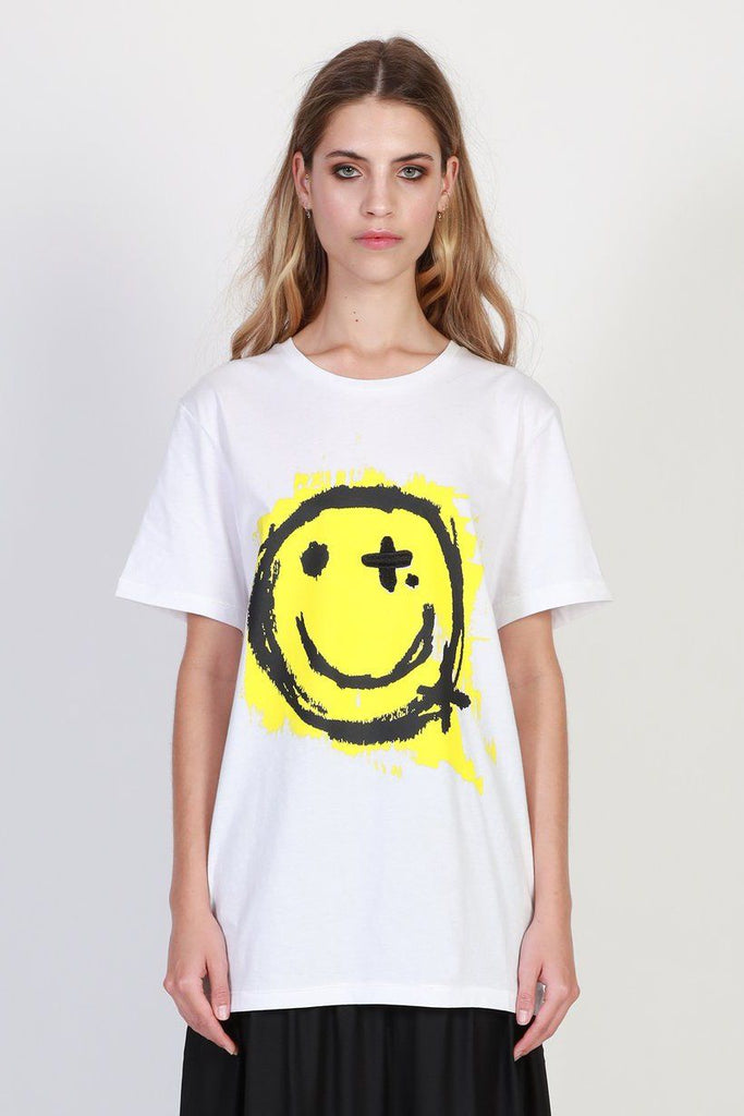 FEDERATION Be Happy Rush Tee White Front