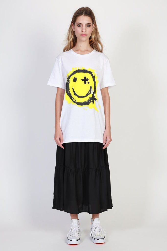 FEDERATION Be Happy Rush Tee White Front Full