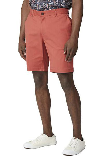 BEN SHERMAN Signature Chino Short Terracotta Front