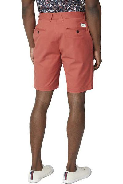 BEN SHERMAN Signature Chino Short Terracotta Back