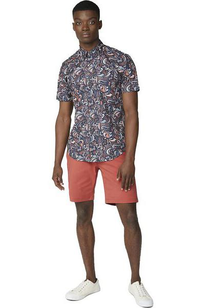 BEN SHERMAN Signature Chino Short Terracotta Front Full